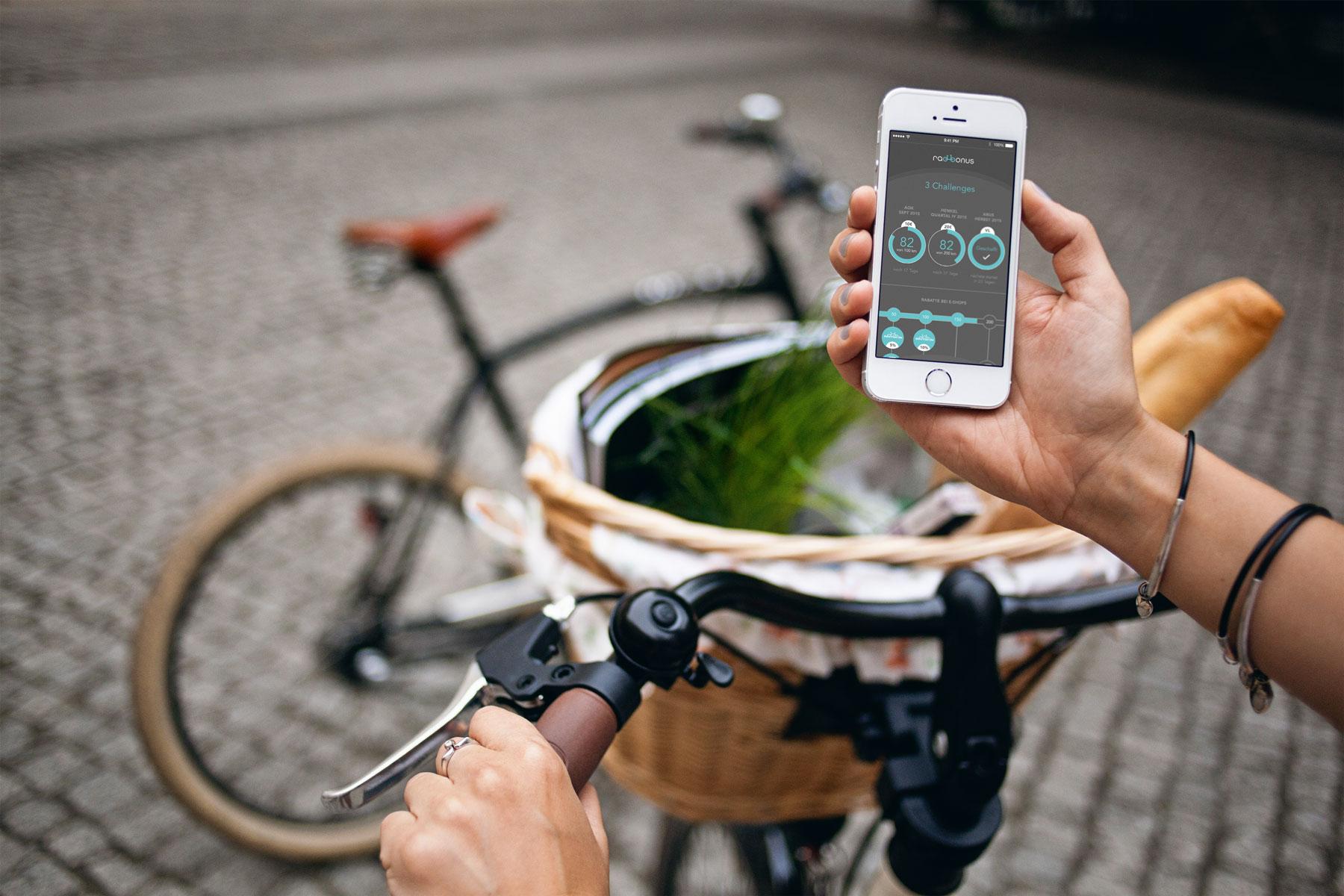 Radbonus - Belohnung mittels App ganz einfach
