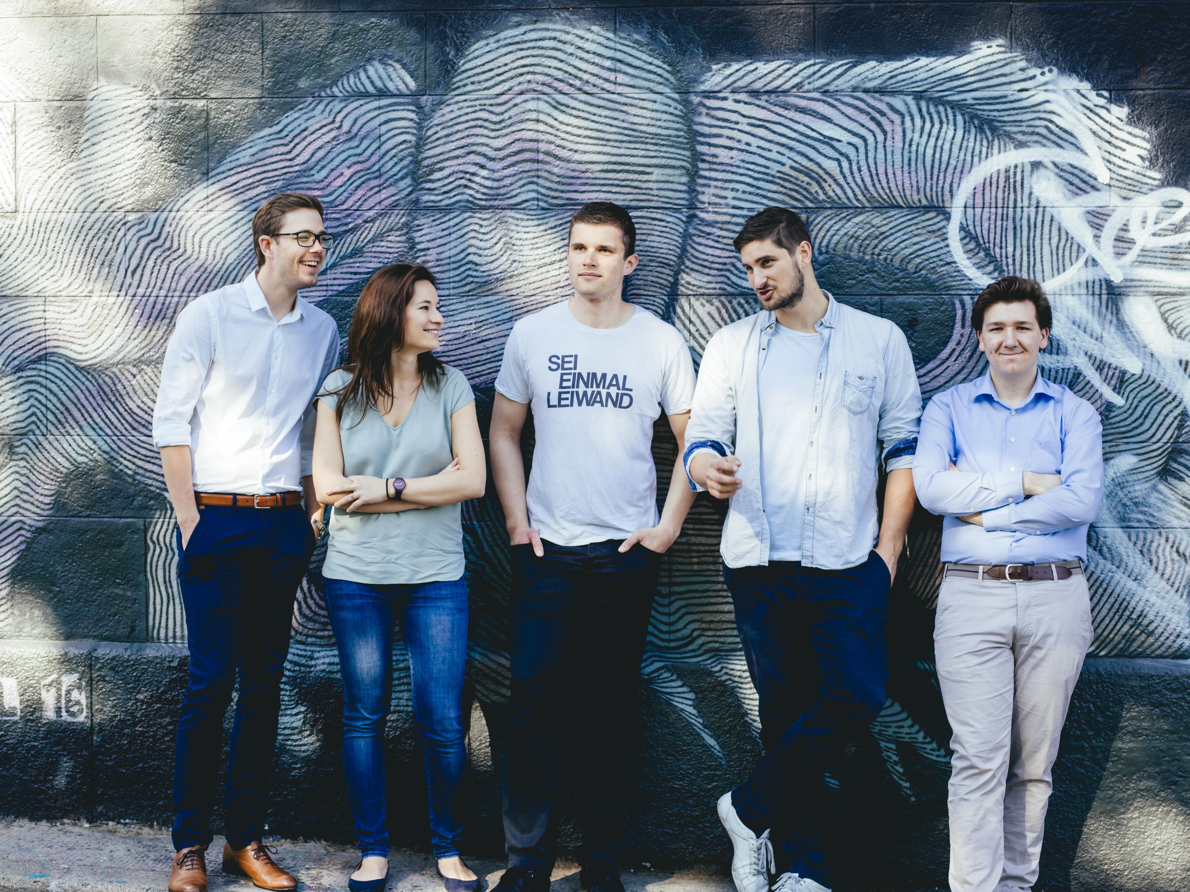 Die byrd-Gründer Michael Innerhofer, Petra Dobrocka, Christoph Krofitsch, Alexander Leichter und Sebastian Mach