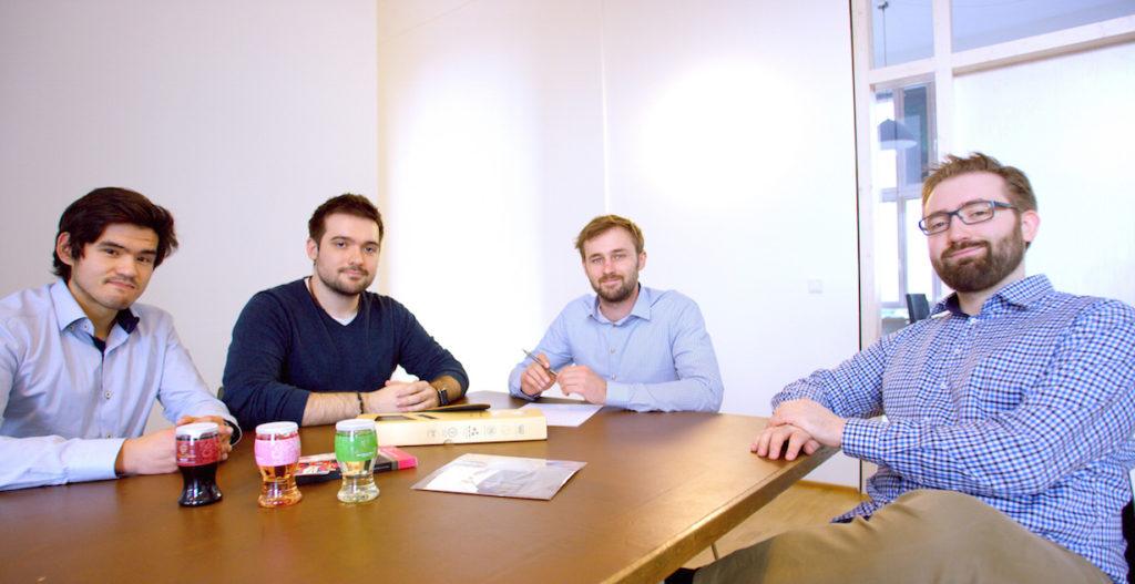 Das Team von Kaufsafari: David Herzmann, Daniel Kolb, Alexander Vogel und Malte Dietrich (v.l.n.r.)