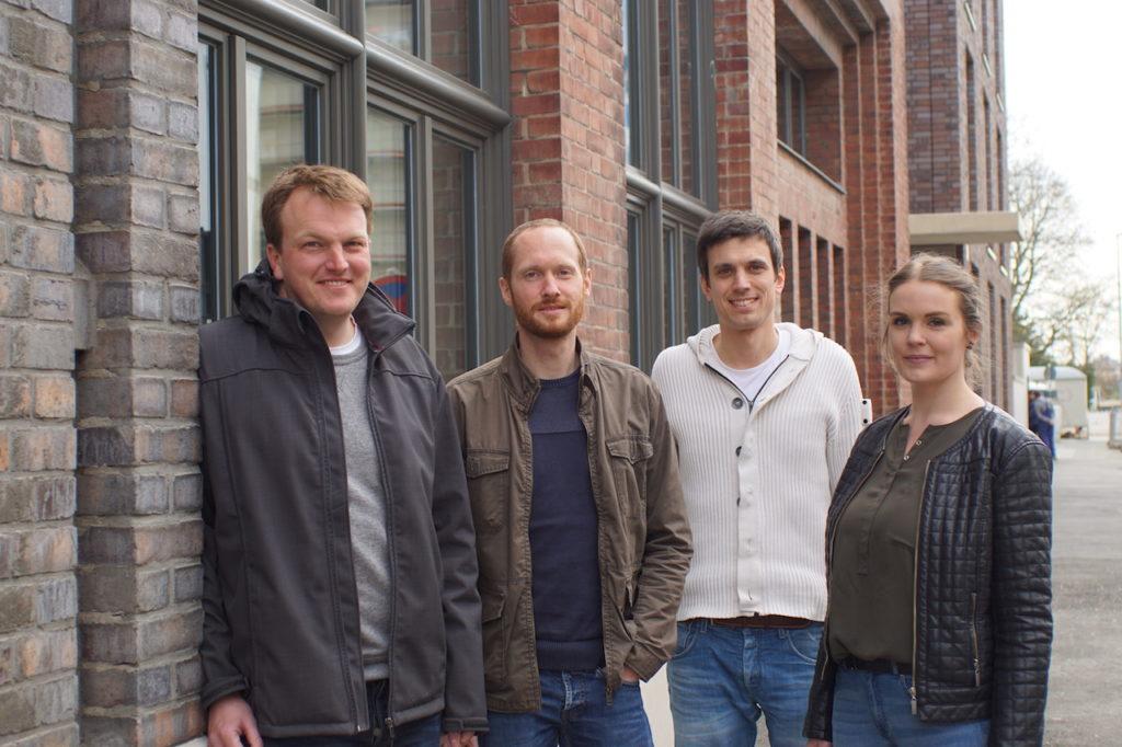 Das Tutanota-Team: Bernd, Arne, Matthias und Hanna