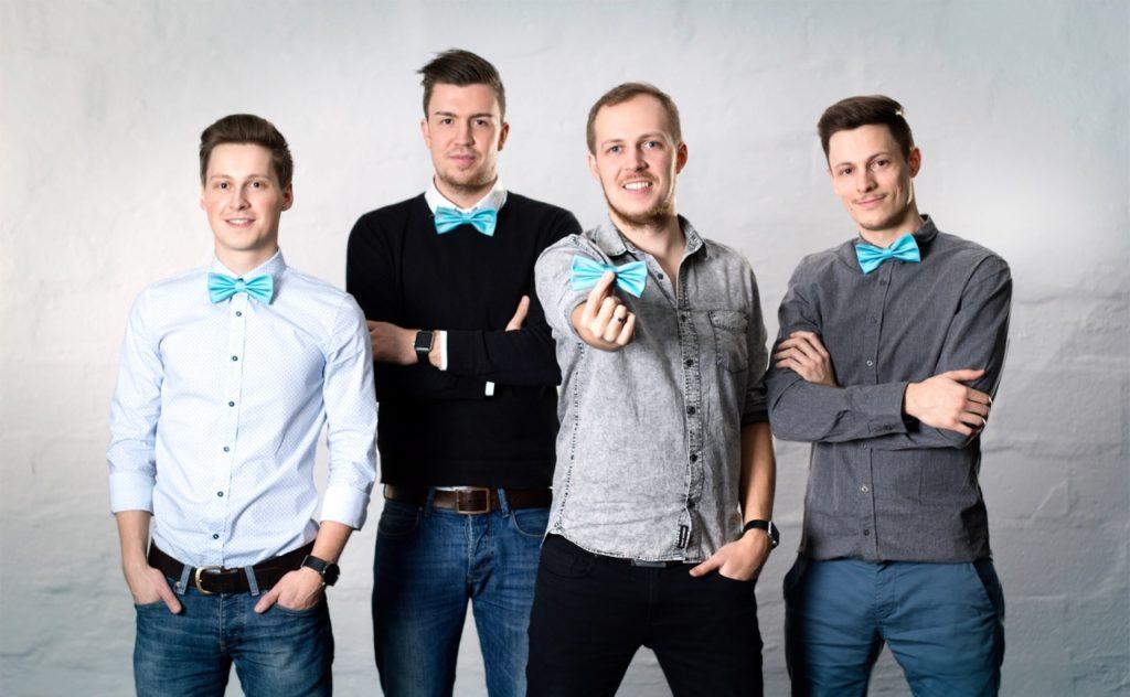 Das myAlfred-Team: Simon Kapl, Gregor Pichler, Philiüü Baldauf und Philipp Jahoda (v.l.n.r.)