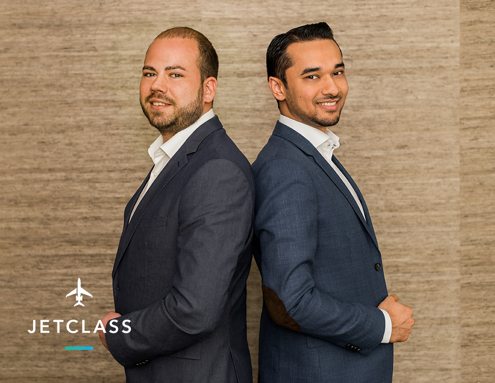 Die beiden JetClass Gründer: Vladislav Zenov und Wagas Ali